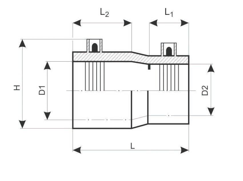 Редукционный переход электросварной чертеж